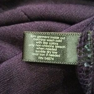 The Limited Tops - Limited top size M in Deep Purple Silky Ruffles